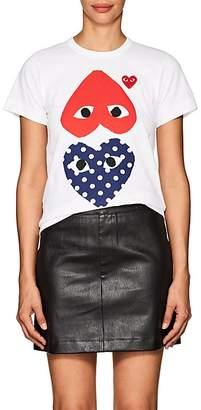 Comme des Garcons Women's Cotton Double-Heart T-Shirt