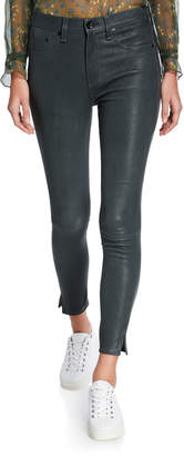 Rag & Bone High-Rise Ankle Skinny Leather Pants