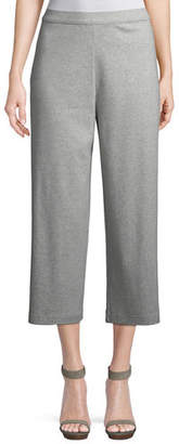 Joan Vass Cropped Cotton Interlock Pants, Plus Size