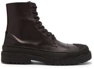 Neil Barrett - Military Tank Leather Boots - Mens - Black