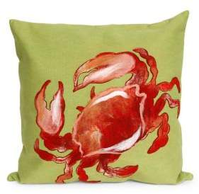 Visions II Crab Indoor and Outdoor Square Pillow