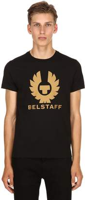 Belstaff Logo Printed Cotton Jersey T-Shirt