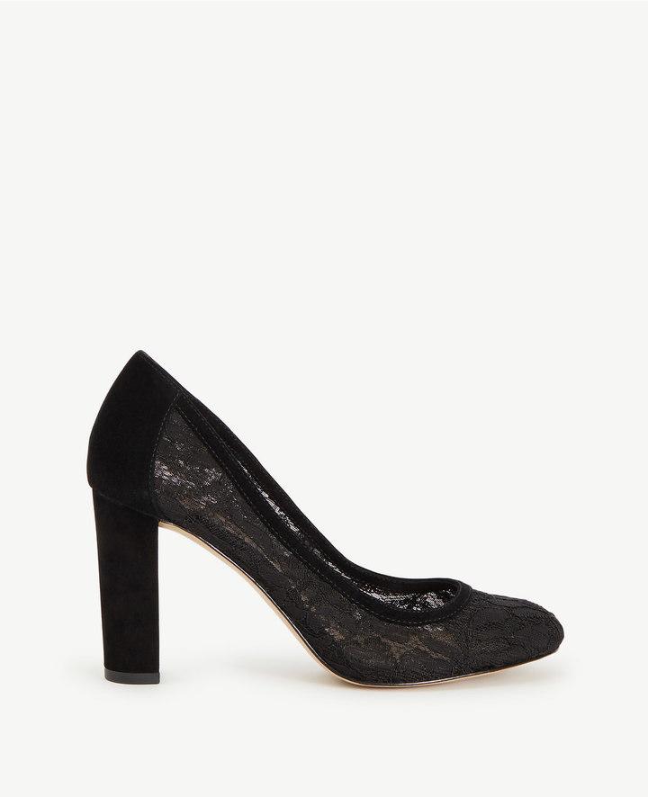 Ann TaylorAbriana Lace Block Heel Pumps