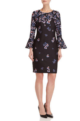 Tommy Hilfiger Floral Bell Sleeve Sheath Dress