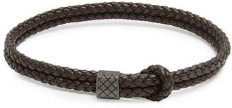 Bottega Veneta Double Intrecciato-woven leather bracelet