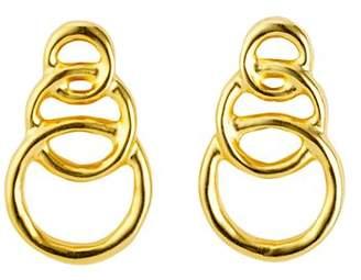 Uno de 50 Gold Chain Graduated Loops Drop Earrings