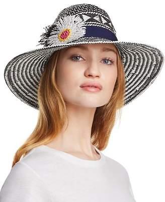 Echo Wow Appliquéd Panama Hat
