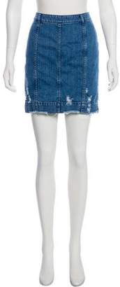 Public School Denim Mini Skirt