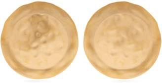 Shield Earrings - Womens - Gold