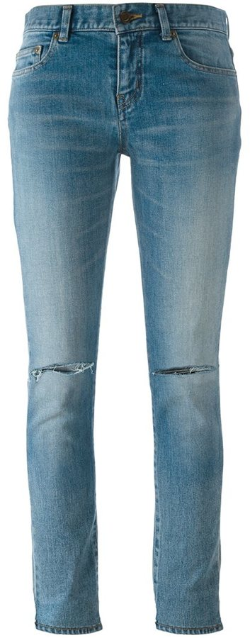 Saint LaurentSaint Laurent distressed skinny fit jeans
