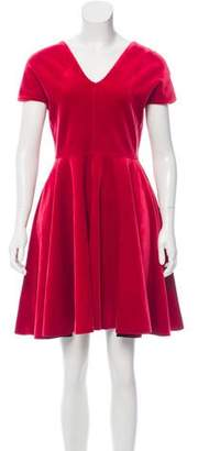 Emilio De La Morena Velvet Evening Dress
