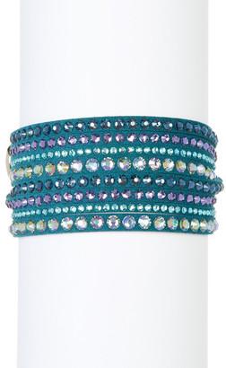 Swarovski Slake Deluxe Crystal Wrap Bracelet $69 thestylecure.com