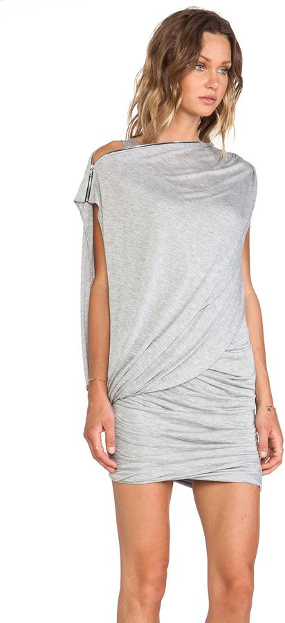Yigal Azrouel Cut25 by Zipper Neckline Drapey Dress