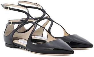 Jimmy Choo Lancer patent leather ballet flats