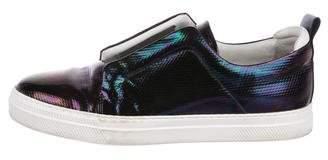 Pierre Hardy Metallic Slip-On Sneakers