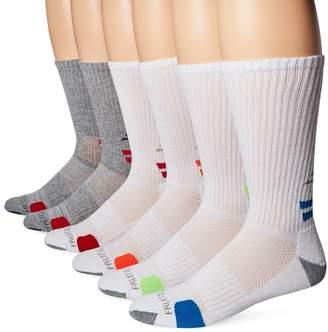 Fruit of the Loom Men's 6 Pack Sport Half Cushion Ankle Socks