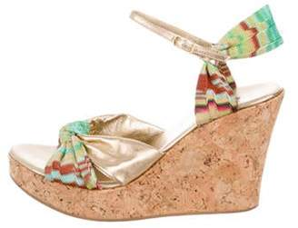 Missoni Crossover Platform Wedges Gold Crossover Platform Wedges