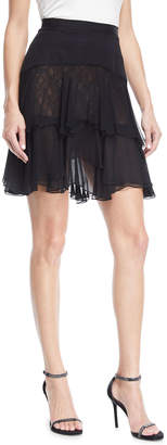 J. Mendel Layered Ruffle Skirt