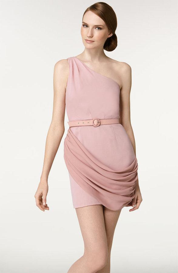 Alice + Olivia 'Jeanine' One Shoulder Dress
