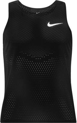 Nike Running - AeroSwift Mesh Tank Top - Men - Black