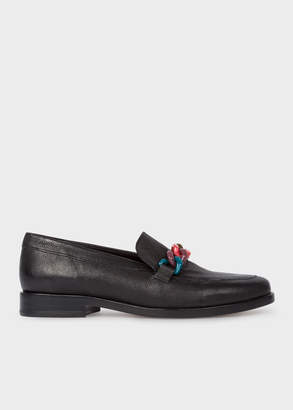 Paul Smith Women's Black Calf Leather 'Cora' Loafers
