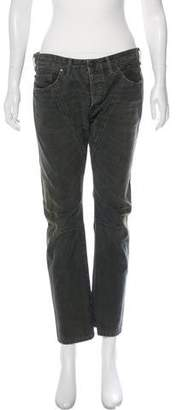 Diesel Black Gold Distressed Mid-Rise Straight-Leg Jeans