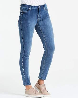1c7f35dc09879 Jd Williams Blue Studded Sadie Slim Leg Jeans