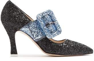 ATTICO Elsa bi-colour glitter pumps