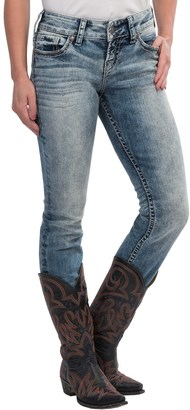 Silver Jeans Suki Straight Leg Jeans - Mid Rise, Stretch Denim (For Petite Women) $39.95 thestylecure.com