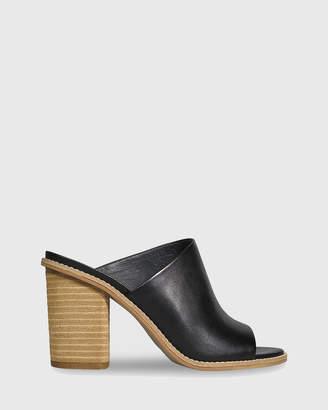 Fonta Open Toe Block Heel Mules