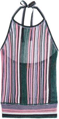 Missoni Knit Halter Top with Metallic Thread