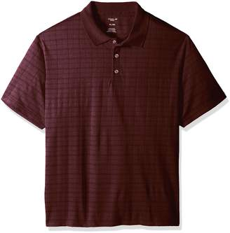 Haggar Men's Short Sleeve Space Dye Knit Polo
