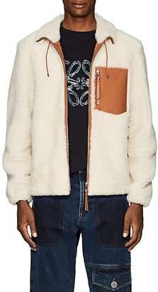 Loewe Men's Leather-Trimmed Shearling Jacket