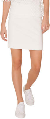 Akris Punto Back-Zip Stretch-Jersey Straight Mini Skirt