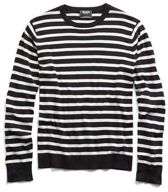 Todd Snyder Italian Silk-Cotton Striped Sweater