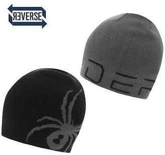 Spyder Boys Reversible Beanie Hat Junior Ski Warm Knitted