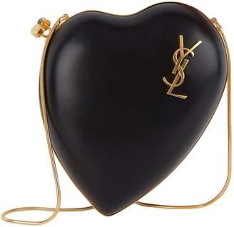 Saint Laurent Leather Love Box Clutch