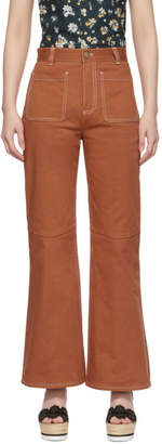 See by Chloe Orange Flared Jeans