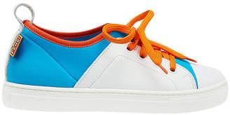 Fendi color block lace-up sneakers