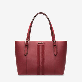 Bally Supra Small Red, Women's small leather tote bag in garnet