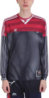 adidas By Alexander Wang by Alexander Wang Black-red Polyester Photocopy Ls T-shirt