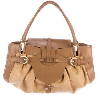 Jimmy Choo Jimmy Choo Tulita Leather-Trimmed Bag