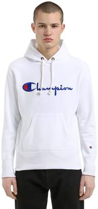 Champion Hooded Logo Cotton Sweatshirt