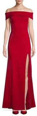 Jay Godfrey Ross Off-The-Shoulder Slit Gown