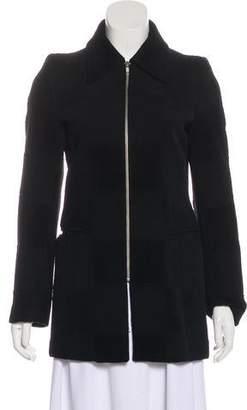 Ann Demeulemeester Wool-Blend Zip-Up Jacket