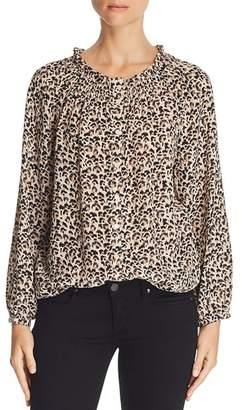 Rebecca Taylor Leopard-Printed Silk Top