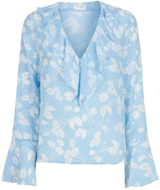 Rixo London Jane Floral Ruffle Blouse