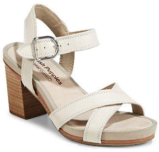 Hush Puppies Mariska Leather Ankle-Strap Sandals