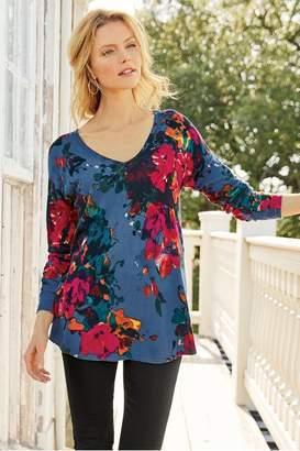 Soft Surroundings Fleur Aquarelle Sweater