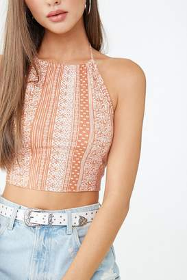 Forever 21 Paisley Print Halter Top